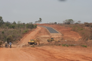 New road leaving Mzuzu